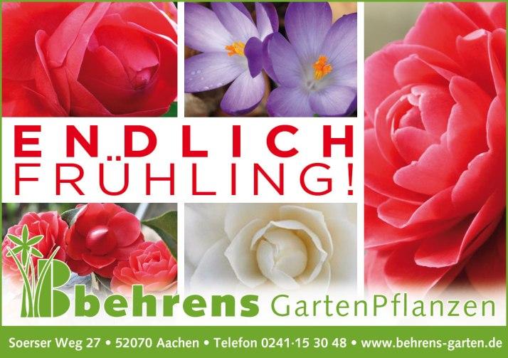 Endlich Frühling! Anzeigenmotiv Behrens