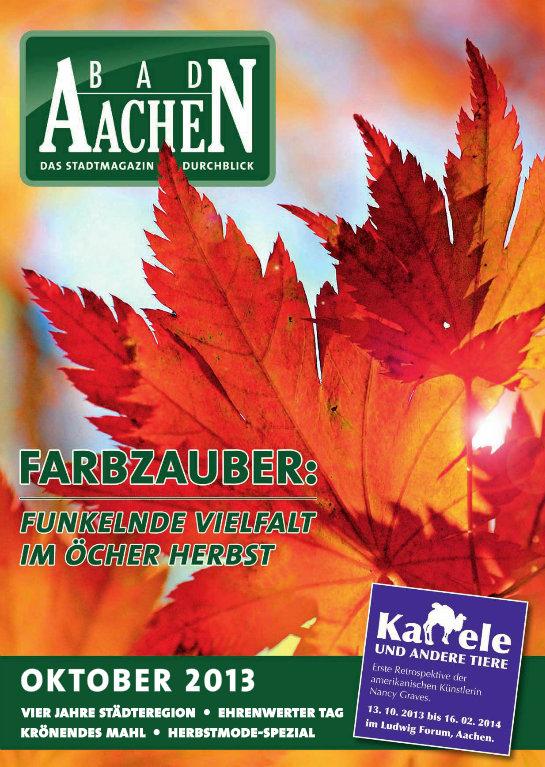 Die Oktober-Ausgabe vom Stadtmagazin Bad Aachen ist da!